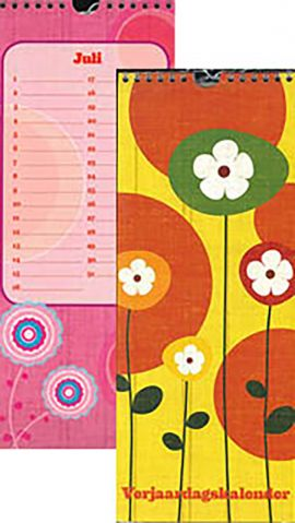 80-153X Verjaardagskalender flower yellow